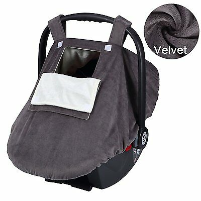 YIHANG Baby Car Seat Covers for Girls and Boys, Infant Canopy WITH Window-Flap