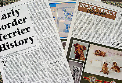BORDER TERRIER KENNEL CLIPPINGS 80s-00s x 30 (Incl. Judges' Choice Article 1992)