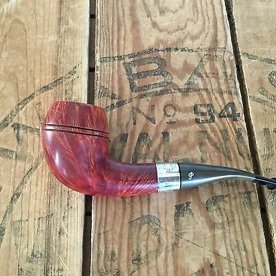 Vintage Peterson's SHERLOCK HOLMES Estate Pipe Sterling Silver Band Pipe