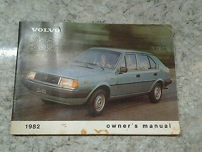 Volvo 343 345 Owners Manual 1982