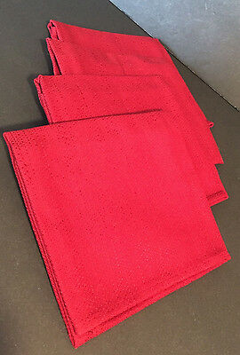 Longaberger Paprika Napkins set of 4 New in Packaging Newark Ohio