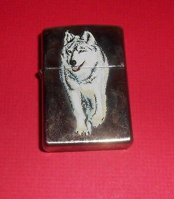 2013  Zippo Cigarette Lighter With A WOLF-- New In The Box