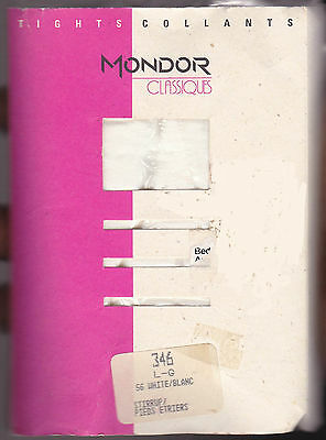 New Pair Of Ladies Mondor Classiques Stirrup White Skating Tights Size Large