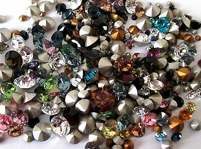 Mixed Colour / Sizes Swarovski Point Back Crystal Chatons Elements