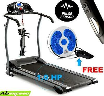 New Manual 3 Point Incline Treadmill Electric Motorised Folding Running Machine