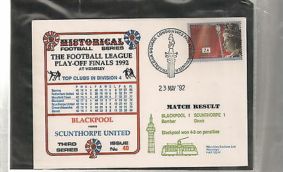 Blackpool v Scunthorpe FDC Football Lge Play-off 1992  + free p