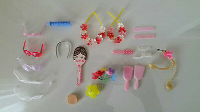 Vintage Barbie lot of beauty accessories, mirors, hair brush, sunglasses