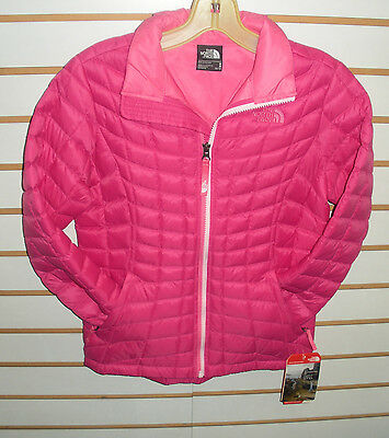 The North Face Girls - Youth Thermoball Full Zip Jacket- C Pink- L Xl