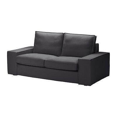 Ikea Kivik Two (2) Seater Sofa Cover - Dansbo Dark Grey 702.111.79