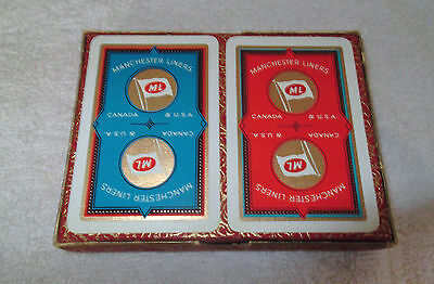 Vintage Manchester Liners Playing Cards