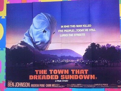 THE TOWN THAT DREADED SUNDOWN - ORIGINAL UK CINEMA QUAD POSTER rare REDUCED SALE