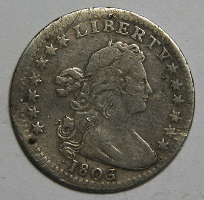1803 Scarce Rare Draped Bust Half Dime 5¢ Coin Lot# MZ 4069
