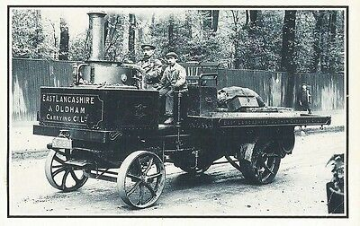 Nostalgia Postcard Collector's Club, Steam Tractor, 1906, Reproduction, Lancs