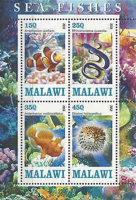 Timbres Poissons Malawi ** année 2013 lot 1161