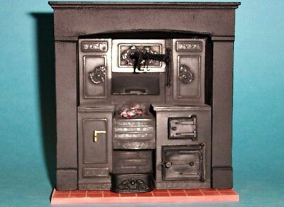 1/12 scale Dolls House,  Built-in kitchen range;  made to order  H&H KRB3F