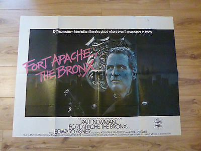 FORT APACHE THE BRONX original UK QUAD Poster - paul newman