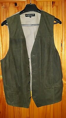 Vintage Good Condition Jaegar Large Olive Green Waistcoat