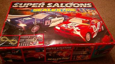 scalextric super saloon with box nearly complete, sorry no cars.