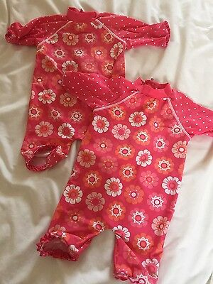 mini club all in one swim suit 12-18 twin / twins ideal for next season