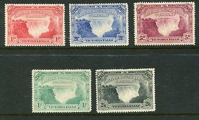 BRITISH SOUTH AFRICA COMPANY 1905 VICTORIA FALLS MH to 2s6d SG94/98 (5) £240