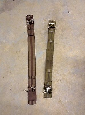 "Two Dressage Girths Job Lot 30"" And 26"" Horse Full Size Girth"