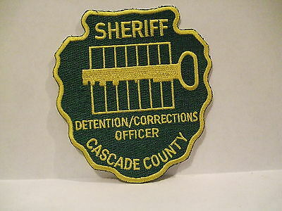 police patch   CASCADE COUNTY SHERIFF DETENTION CORRECTIONS OFFICER  MONTANA