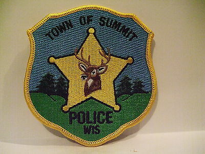police patch  TOWN OF SUMMIT POLICE WISCONSIN