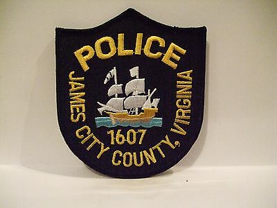 police patch    JAMES CITY COUNTY POLICE VIRGINIA