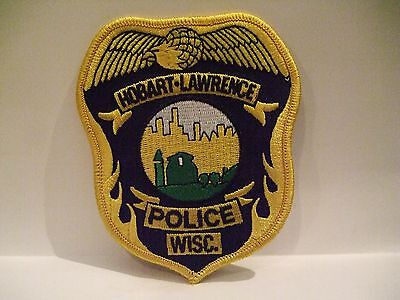 police patch   HOBART LAWRENCE POLICE WISCONSIN