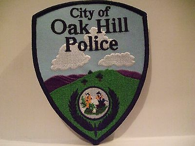 police patch    CITY OF OAK HILL POLICE WEST VIRGINIA  BLUE STYLE