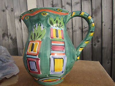 Jug , Hand Painted  In   Italy .