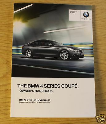 Genuine Bmw 4 Series Coupe F32 Handbook Owners Manual 2013-2015