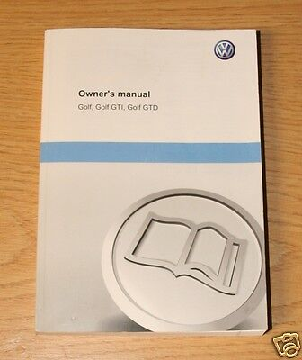 VW GOLF Mk7 COVERS ALSO GOLF GTI GTD HANDBOOK OWNERS MANUAL 2012-2016 BOOK 11848