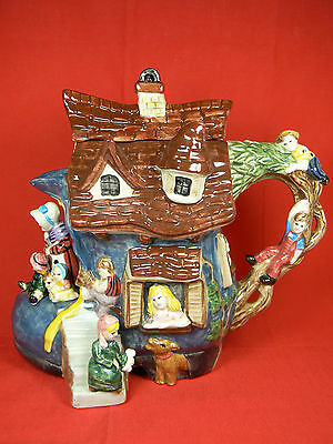 Limited Edition Fitz & Floyd Fairytales & Fables Old Woman in a Shoe Teapot IOB