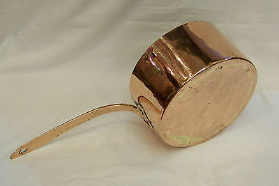 C1820 Very Large Size English Antique Georgian Seamed Copper Kitchen Cooking Pan