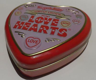 Swizzels Matlow Limited Edition Mini Love Hearts NEW Out of Date Tin Freepost UK