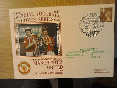 1993 Manchester United V  Galatasary - Rare Postal Cover