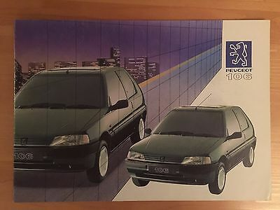1991 Peugeot 106 brochure - XSi XT XR XN - 16 pages - detailed info