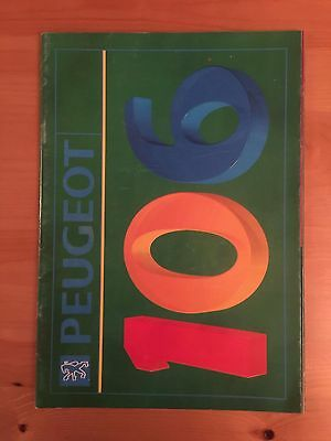 1991 Peugeot 106 UK launch sales brochure 24-page with fold-outs