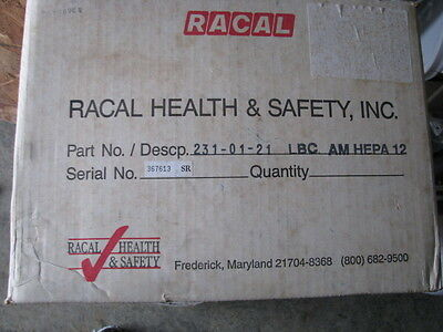 RACAL  HEPA   ( TREND Type  AIRSHIELD PRO AND FACESHIELD DUT PROTECTOR )