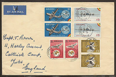 Ghana. 1958. Air Mail Cover With Ghana Airways Set In Pairs.