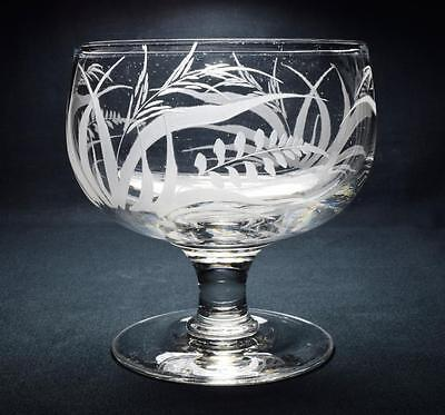 Regency/Early Victorian Engraved Glass Bowl, C.1830s/40s