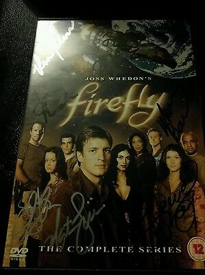 Firefly: The Complete Series DVD Box Set cast signed