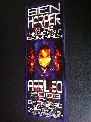 Ben Harper Rare Original Limited Edition Austin Texas Backyard Concert Poster