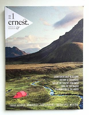 ERNEST JOURNAL Print Issue No. 1 RARE Out of Print ADVENTURE MAGAZINE Mint Cond.
