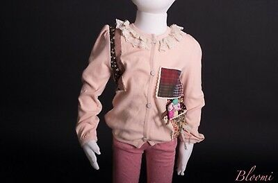 NWT Girls Baby Pink Cardigan with lace and patch work Bloomi Size 6