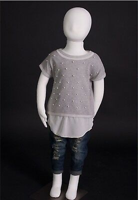 NWT Girls Pearl Details T Shirt Sweater Size 6