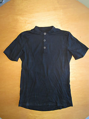 MISSION WORKSHOP The District Acre Short Sleeve Merino Wool Henley Black S