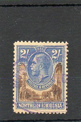 Sg 11 Northern Rhodesia 2/- Used Cat £38- Revenue Stamp Cancel-