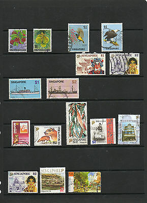 Singapore  Used (16)  High Face Values-Good Cat Values